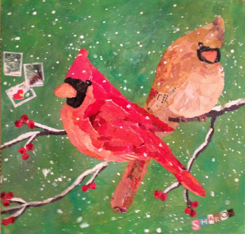 Cardinals on green